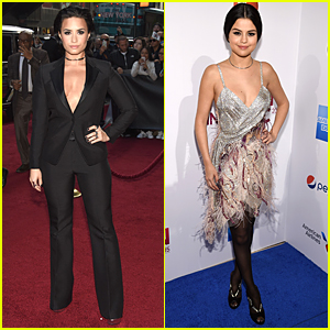 Demi Lovato & Selena Gomez Step Out For Billboard's Women in Music 2015