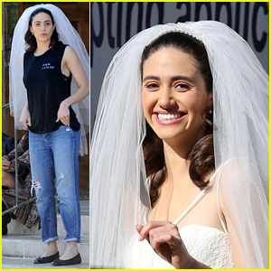 Emmy Rossum Makes for a Gorgeous Bride for 'Shameless'