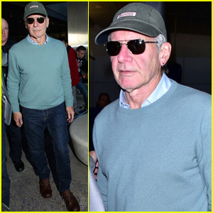 Harrison Ford Arrives Back in LA After 'Star Wars' UK Premiere