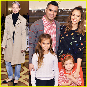 Jessica Alba Gets Festive with Family At Baby2Baby Holiday Party!