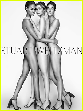 Joan Smalls, Gigi Hadid, & Lily Aldridge Wear Nothing But Shoes for Stuart Weitzman Campaign!