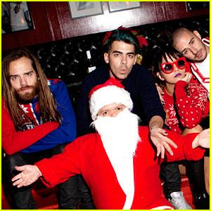 Joe Jonas Celebrates the Holidays at His Jingle Ball After Party