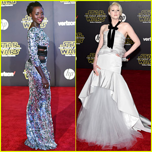 Lupita Nyong'o & Gwendoline Christie Premiere 'Star Wars: The Force Awakens' in Hollywood!