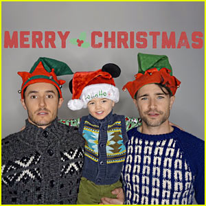 Matt Dallas Shares Christmas Pic with Husband Blue & Son Crow