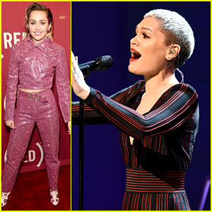 Miley Cyrus & Jessie J Sing 'One' with U2 at (RED) Concert!