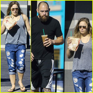 Ronda Rousey Stays Casual for Coffee Run With Travis Browne