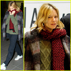 Sienna Miller Cozies Up After Landing in London