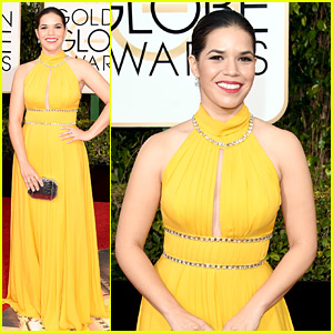 America Ferrera Is Lovely in Yellow at Golden Globes 2016