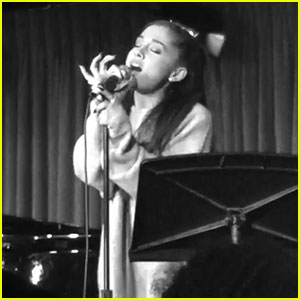 Ariana Grande Gives Surprise Performance With Writer of Her First Broadway Show