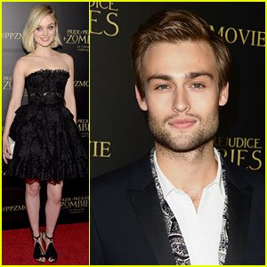 Bella Heathcote Gets Put in the Spotlight at 'PPZ' Premiere with Douglas Booth!
