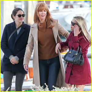 Nicole Kidman & Reese Witherspoon Film on Location For 'Big Little Lies'
