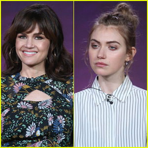 Carla Gugino & Imogen Poots Promote 'Roadies' at Winter TCA 2016