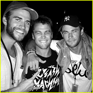 Chris Hemsworth Has a Brothers Night Out with Liam & Luke!