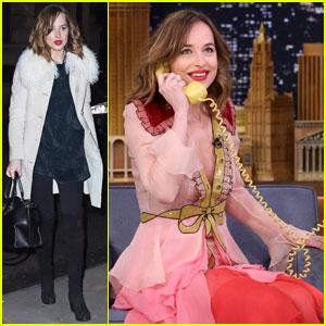 Dakota Johnson Pretends She's a Clown on 'Tonight Show'