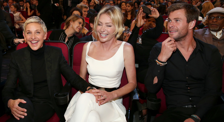 Ellen DeGeneres Brings Shirtless Chris Hemsworth Photo To