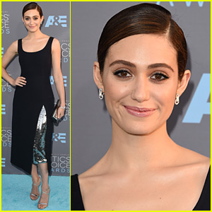 Emmy Rossum Goes Classic in Black at Critics' Choice Awards 2016