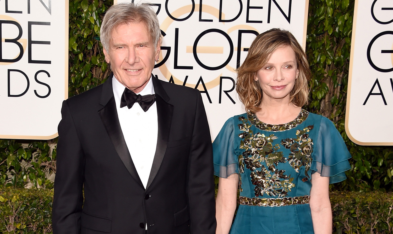 Harrison Ford Amp Calista Flockhart Couple Up At The Golden