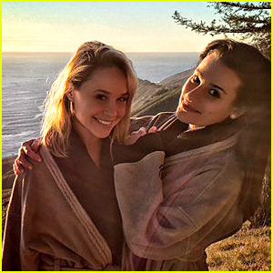 Glee's Lea Michele & Becca Tobin Spend NYE 2016 Together!