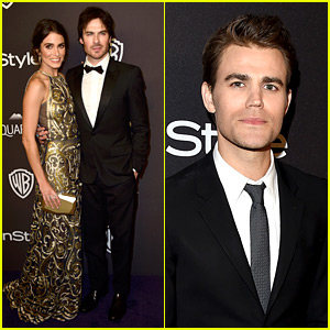 Ian Somerhalder & Nikki Reed Couple Up at InStyle's Golden Globes 2016 After Party