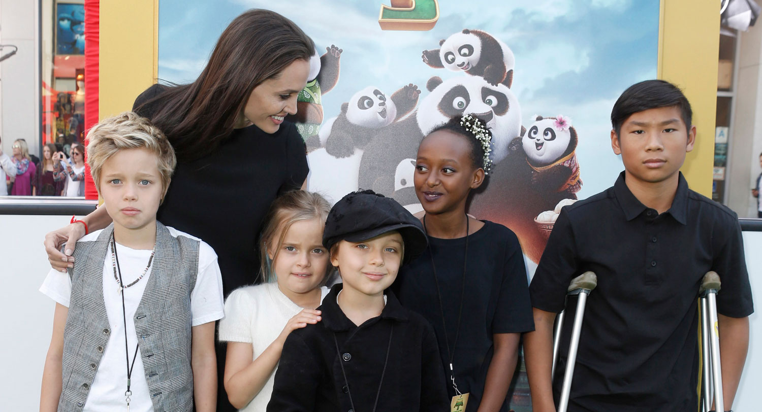 Angelina Jolies Kids Look So Grown Up At Kung Fu Panda 3