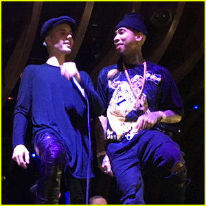 Justin Bieber & Tyga Perform Together at 1OAK!