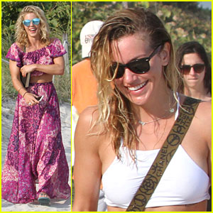 Arrow's Katie Cassidy & Emily Bett Rickards 'Be Livin' in Miami