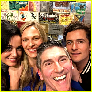 Katy Perry & Orlando Bloom Enjoy a Night of Theater!