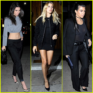 Kendall Jenner Flaunts Toned Abs for Night Out with Hailey Baldwin & Kourtney Kardashian!
