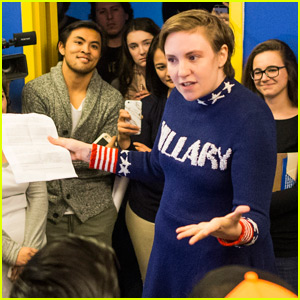 Lena Dunham Shows Her Support for Hillary Clinton