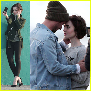 Lily Collins Heads To The Beach For Lancome Ad Shoot