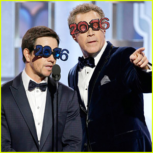 Mark Wahlberg & Will Ferrell Are Still Celebrating the New Year at the Golden Globes 2016