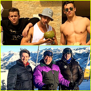Patrick Schwarzenegger Celebrates New Year's in the Sun & Snow