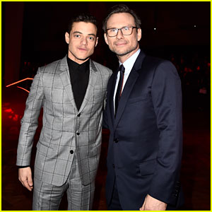 Rami Malek & Christian Slater Buddy Up at Dior Homme Fashion Show