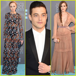 Mr. Robot's Rami Malek Hits Critics' Choice Awards 2016 With Portia Doubleday & Carly Chaikin