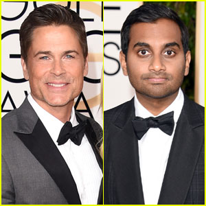 Rob Lowe & Aziz Ansari Dress Up for Golden Globes 2016