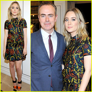 Saoirse Ronan & 'Brooklyn' Filmmakers Honored at Burberry Cocktail Event