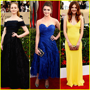 Sophie Turner & Maisie Williams Step Out For SAG Awards 2016