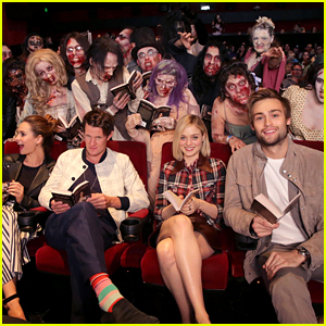 'Pride & Prejudice & Zombies' Cast Helps Break a Zombie Record at JustJared.com's Fan Screening