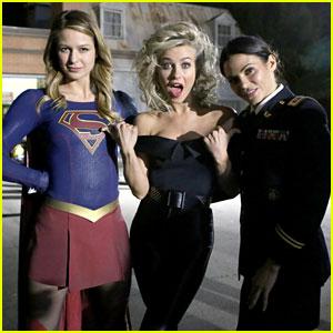 Supergirl's Melissa Benoist & Jenna Dewan Visit 'Grease Live' Set in Full Costume!