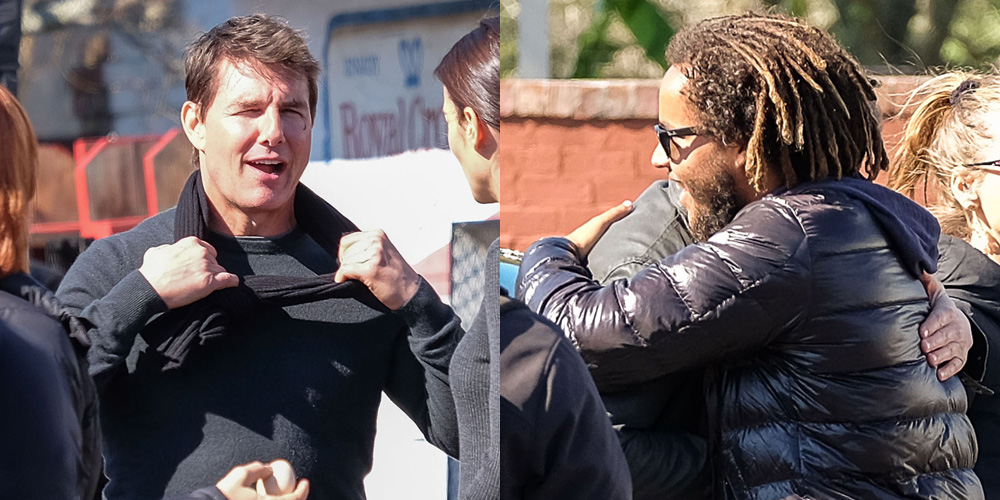 tom cruise gets a visit from son connor on �jack reacher
