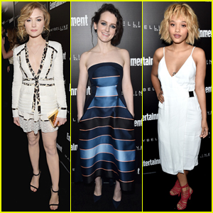 Skyler Samuels & Kiersey Clemons Stun in White at EW's Pre-Sag Celebration
