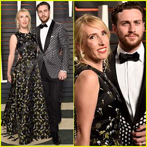 Aaron Taylor-Johnson & Wife Sam Hit Oscars 2016 Vanity Fair After Party!
