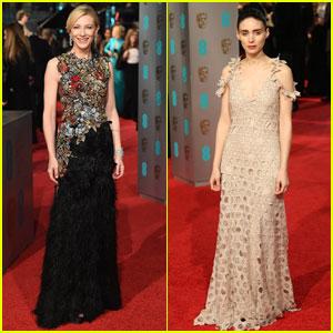 Cate Blanchett & Rooney Mara Look Lovely at BAFTAs 2016