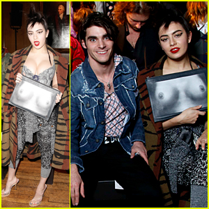 Charli XCX Rocks Provocative Bag at Vivienne Westwood Fashion Show