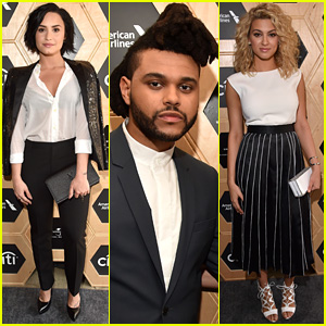 Demi Lovato & The Weeknd Perform at UMG's Pre-Grammys 2016 Party!