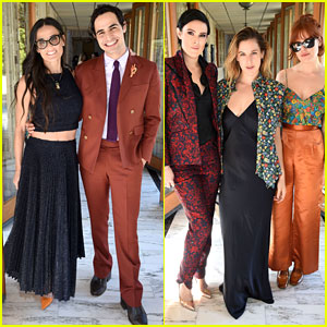 Demi Moore Celebrates Zac Posen with Her Three Daughters!