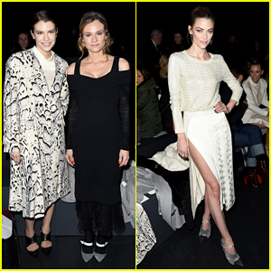 Diane Kruger & Jaime King Are Fashion Spirit Sisters At Prabal Gurung NYFW Show!