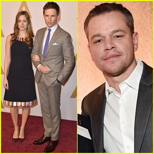 Eddie Redmayne & Matt Damon Make Appearances at Oscars 2016 Luncheon!