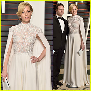 Elizabeth Banks Dons Caped Jumpsuit at Vanity Fair Oscar Party
