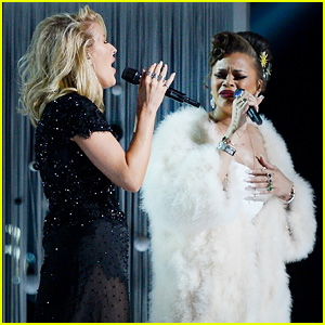 Ellie Goulding & Andra Day's Grammys 2016 Performance